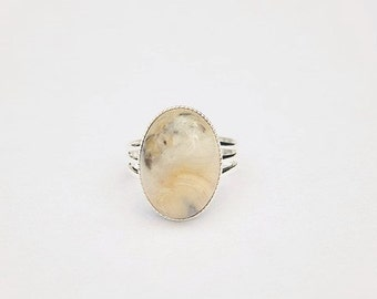 Handmade Yellow Ring Yellow Stone Ring Crazy Lace Agate Ring Agate Gemstone Ring Yellow Gemstone Ring Yellow Grey Gemstone Ring