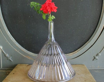 Large Vintage  Apothecary or Wine Glass Funnel