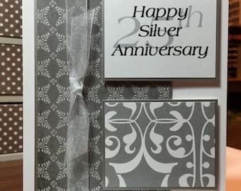 Silver Anniversary 25th Card
