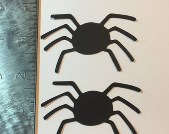 Set of two black spiders - die cuts