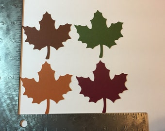 Set of four leaves - die cuts