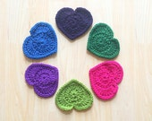 Customizeable heart shaped drink coasters - set of 5 - Christmas gifts for girls