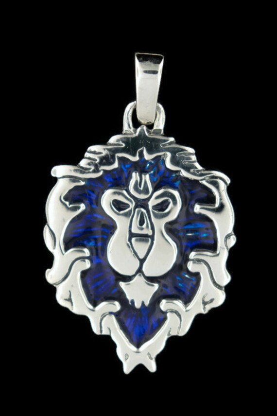 WoW Aliance Lion Pendant in Sterling Silver