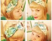 Upcycled Vintage Fabric Headband, Bow