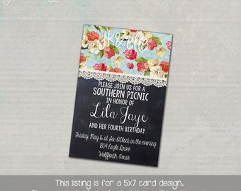 Southern Picnic or Country Picnic Invitation