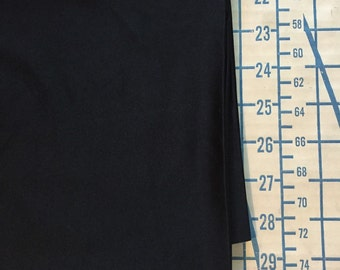 """Swimsuit Fabric Black With Lycra 2 Yards X 44"""" Wide #3361"""