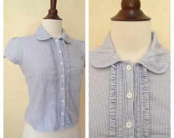 Vintage Peter Pan Collar blouse sz S
