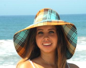 Fall Hat Plaid Wide Brim Sun Hat Floppy Hat Fall fashion Freckles California