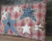 Country Primitive Americana star pillow