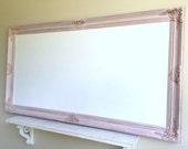 "HuGE Magnetic DRY ERASE BOARD 30""x54"" Pink Distressed Girls Desk Organizer Nursery Vintage Shabby Chic Whiteboard White Dry Erase Board"