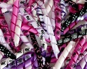 100 Korker Pieces - HALLOWEEN B - Precut, Ends Heat Sealed, Ready to Use - 3/8 Grosgrain Ribbons