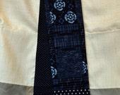 KiMonoMono cotton scarf indigo blue 2