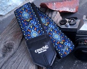 Hendrix Electric Blue Hippie Weave Camera Strap