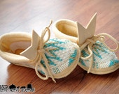 Native American Made--Beaded Baby Moccasins size 3