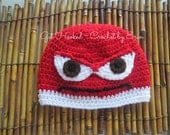 Anger Hat from Inside Out the movie/ all sizes available/ ships everywhere