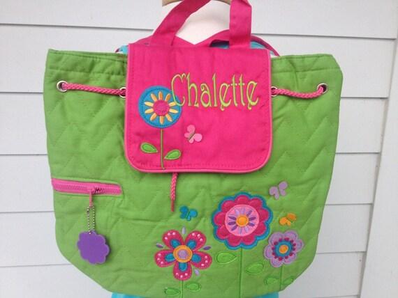 personalized preschool backpacks kids items similar to monogrammed toddler backpack flower 352