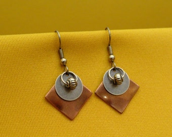 Stellar copper and silver earrings (Style #453S)