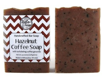 Kitchen Bar Soap, Hazelnut Coffee, Coffee Grounds