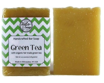 Green Tea Bar Soap - Organic Fair Trade Matcha Green Tea - Rishi Tea