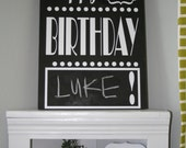 Customizable Chalkboard Happy Birthday Sign for Birthday Decor Modern Sign Home Decor