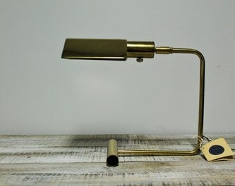 Vintage Koch and Lowy Brass Cantilevered Desk Lamp