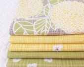fq bundle, bluebird park, sunrise + grass colour ways, fabric quilting cotton