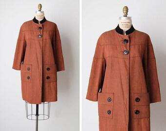 vintage 1960s jacket / 1960s work jacket / canvas utility coat / Commonwealth coat