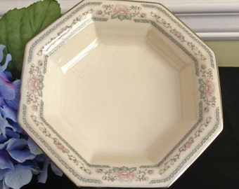 Lenox Charleston Open Candy Dish, Mint condition, Discontinued Pattern, Platinum Edged, Made in USA
