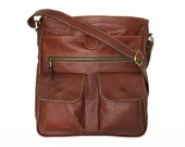 "11"" Laptop Leather Messenger Bag Iris // Leather Cross-body Bag"