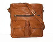"11""x12""Women's Leather Bag // Leather Messenger Bag // Leather Cross-body Purse // Leather Handbag Iris"