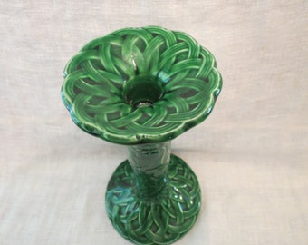 Celtic Sunflower Design Green Candle Holder 1983