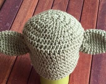Newborn baby Yoda hat crochet