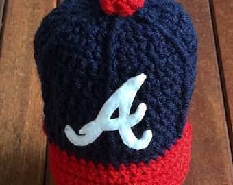 Newborn baby Atlanta Braves baseball cap