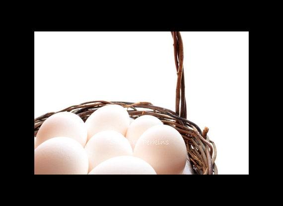 Eggs In A Basket Food Photography Minimalist Kitchen Decor Original Fine Art Photography Print 8x10/8x12/11x14/11x16/16x20/16x24/20x30