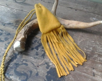 Deer Leather Fringe Medicine Bag