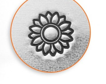 SUNFLOWER- Metal Design Stamp ImpressArt- 6mm Design Stamp-Steel Stamps-Metal Supply Chick-New