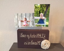 Personalized picture frame aunt like mom only cooler board aunt gift from niece nephew baby grandma gift wood custom choose your quote