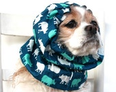 Rhino Dog Snood, Long Ear Coverup, Cavalier King Charles or Cocker Snood