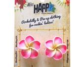 Tiki Frangipani Flower Stud Earrings
