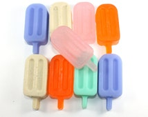 Itty Bitty Popsicle Committee - 9 guest soaps - ice cream, party favor, ice lolly, fudgecicle, dreamsicle, summer, pool party, ice cream man