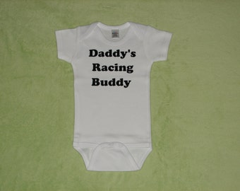 Infant Bodysuit, Baby Bodysuit, Daddy's Racing Buddy
