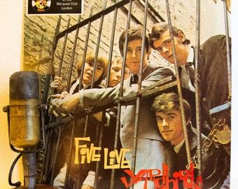 "ON SALE The Yardbirds (with Eric Clapton) LIVE Vinyl Record Album Lp 1960s British Blues Rock ""Five Live Yardbirds (Live)"" (1979 Charly re-i"