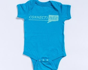 "Small State | ""Connecti-Cutie"" Onesie"