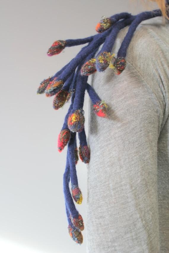 Felted necklace belt bracelet
