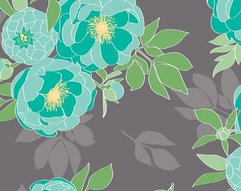Riley Blake Designs Cottage Main Gray fabric - 1 yard