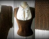 Instant Download Pattern - Crochet Vest Pattern - Scoop Neck Crochet Vest - Plus Size Crochet - Plus size Clothing - #Crochet in Crochet