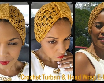 Crochet Turban - Crochet Hairwrap - Crochet Accessory - Cluster Stitch Turban - Crochet Hair Wrap - Summer Crochet - Spring Crochet - Guchet