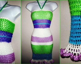 Crochet Dress Pattern - Crochet Dress - Crochet Pattern - Strapless Crochet Dress - Summer Crochet - Crochet Swimsuit Cover - Crochet Wrap