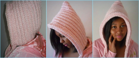 Instant Download Pattern - Crocheting Pattern - Crochet Hat – Crochet Pixie Hat - Crochet Hat Pattern - Plus Size Clothing - Winter Fashion