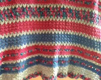 Wool Hand Knitted Throw